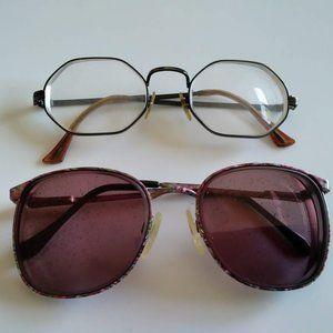 2-Vintage 70s eyeglasses